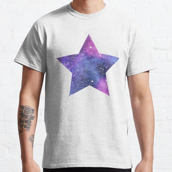 Pink and Blue Galaxy Night Sky Star Classic T-Shirt