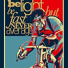 Retro Cycling Print Poster Hard as Nails  by SFDesignstudio