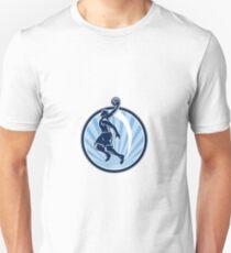 Basketball Player Dunk Ball Retro T-Shirt
