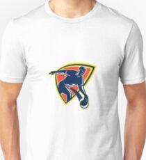 Bowler Throw Bowling Ball Shield Retro T-Shirt