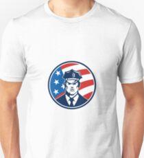 American Policeman Security Guard Retro T-Shirt
