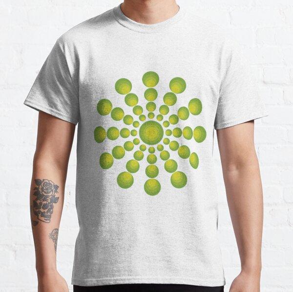 Grüne Kreise im 70er Style Classic T-Shirt