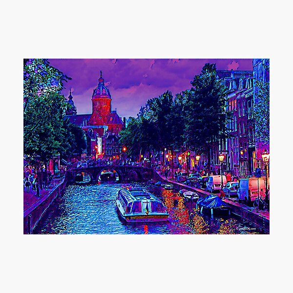Amsterdam Night, Netherlands - Fine Art Collection Photographic Print