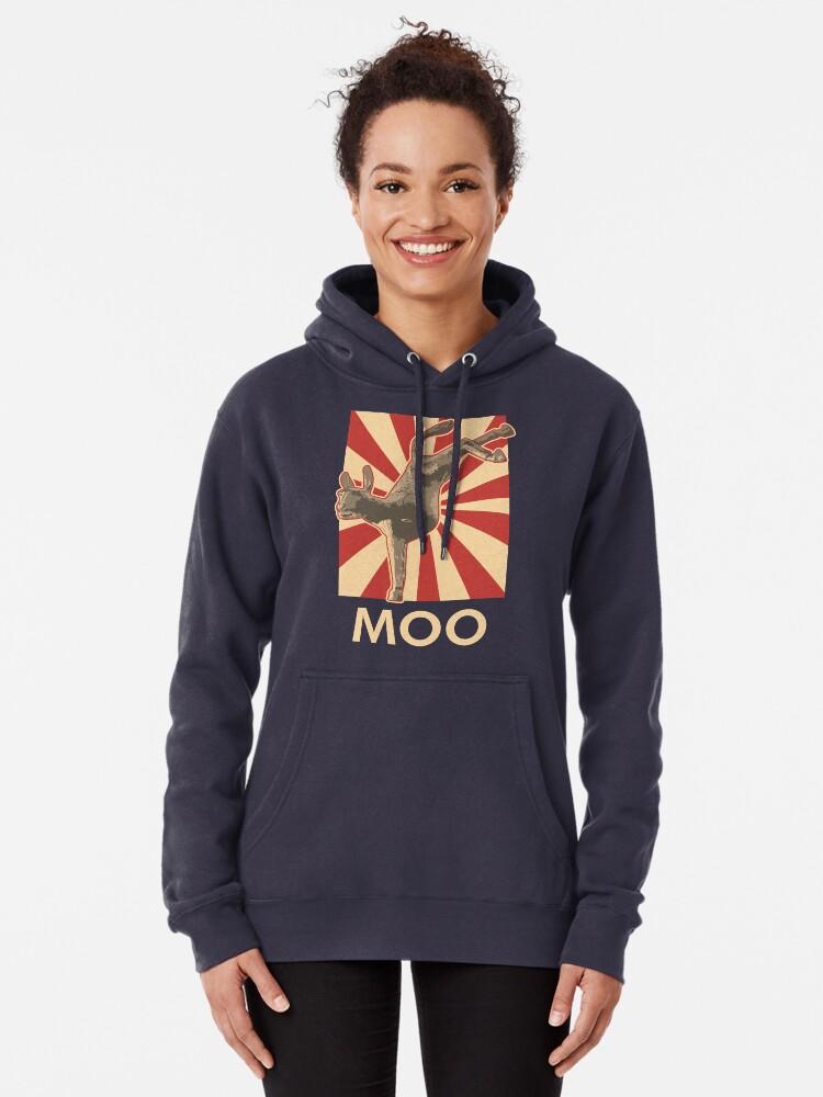 Alternate view of Moo Pullover Hoodie