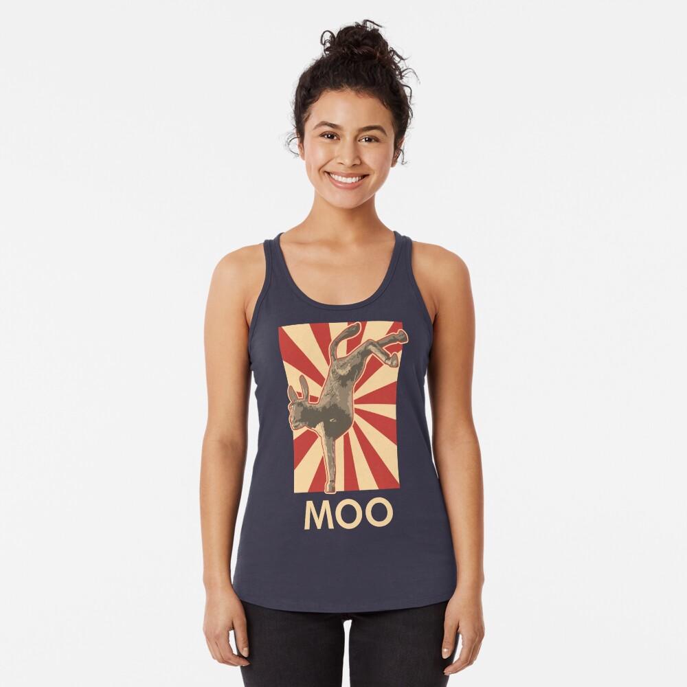 Moo Racerback Tank Top