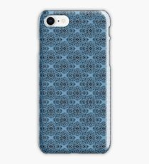 Blue Classic Damask Pattern iPhone Case/Skin