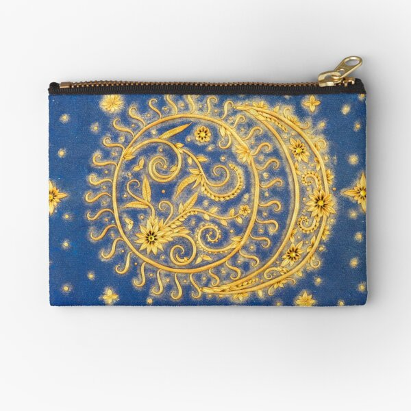 Celestial Bodies - Sun and Moon Zipper Pouch