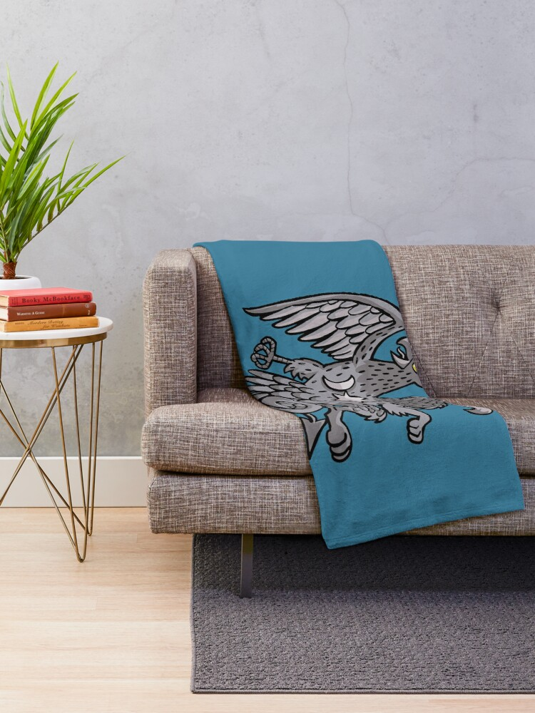 Alternate view of eagle and griffin symbol Throw Blanket