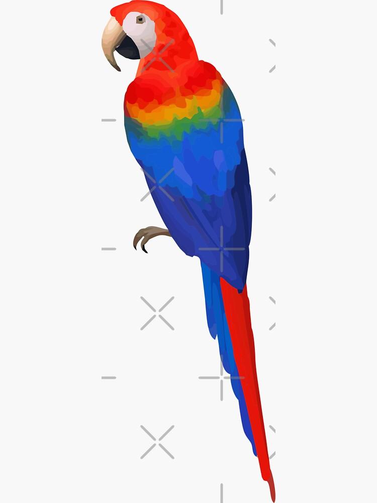 Parrot Sticker by stickysterscom