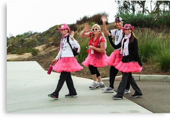 WALKING FOR THE CURE  by Heather Friedman