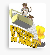 Everything is Better with CG monkies Metal Print