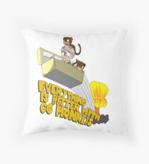 Everything is Better with CG monkies Throw Pillow