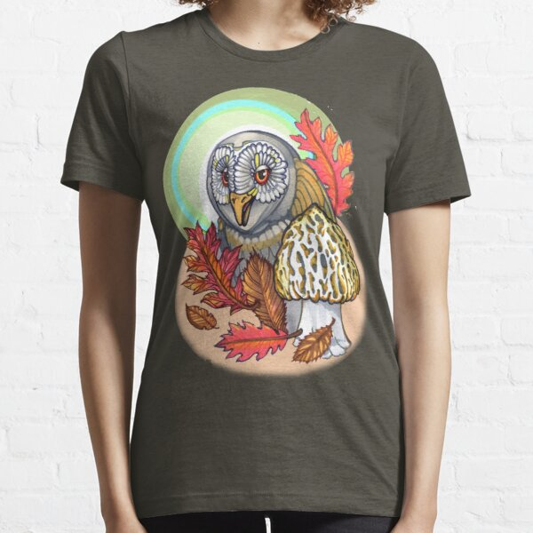 autumn barn owl, with morel Essential T-Shirt