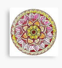 Autumn Leaf Mandala Design. Canvas Print