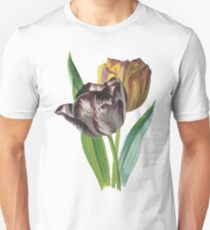 Tulips With Variegated Petals Vector T-Shirt