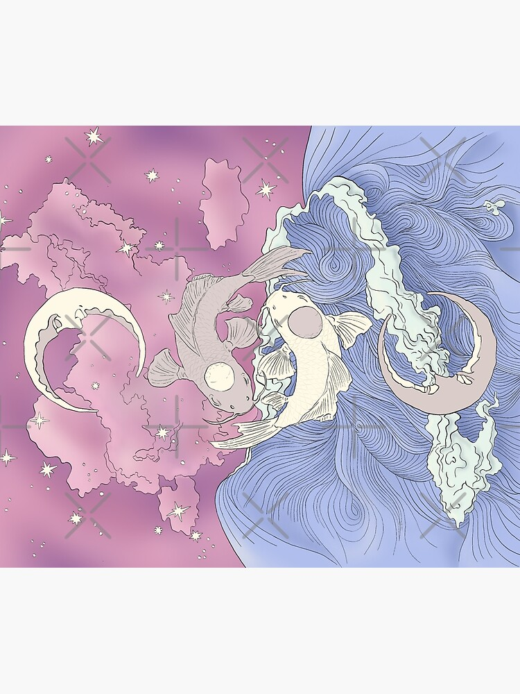 Tui and La, Moon and Ocean Spirits Art Nouveau by iypuff123