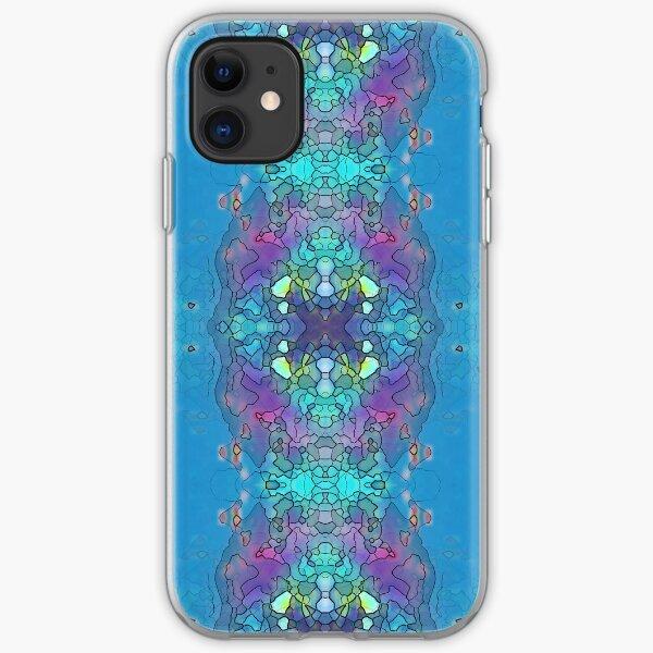 Blue and Violet Ocean Impression iPhone Soft Case
