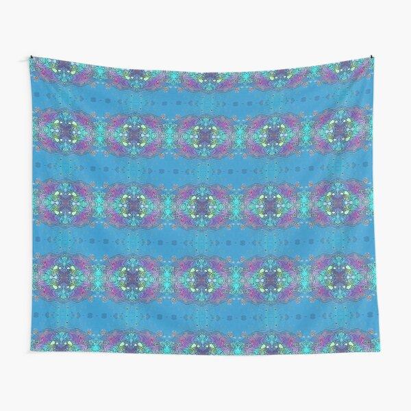 Blue and Violet Ocean Impression Tapestry