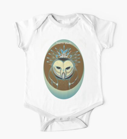 barn owl shirt, pale blue icy owl Kids Clothes