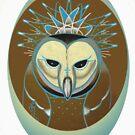 barn owl shirt, pale blue icy owl by resonanteye
