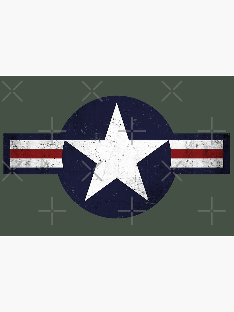 Roundel of the USAF distressed by Beltschazar