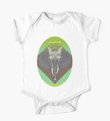 elephant in green. Kids Clothes