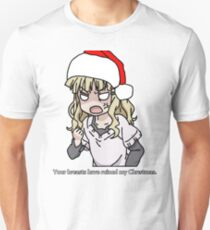 Your breasts have ruined my christmas! Hat version (Yuru yuri) T-Shirt