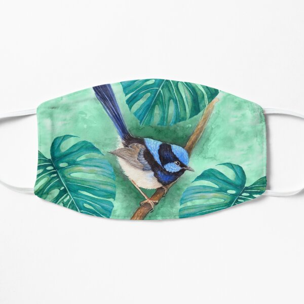 Superb Blue Fairy-Wren by Nadya Neklioudova Flat Mask