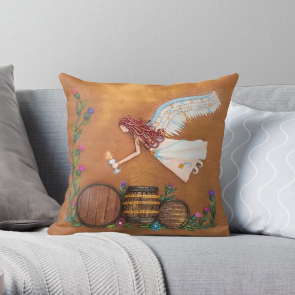 The Angels Share - Whisky Angel Art Throw Pillow