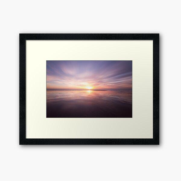 Sunset at Birling gap, East Sussex Framed Art Print