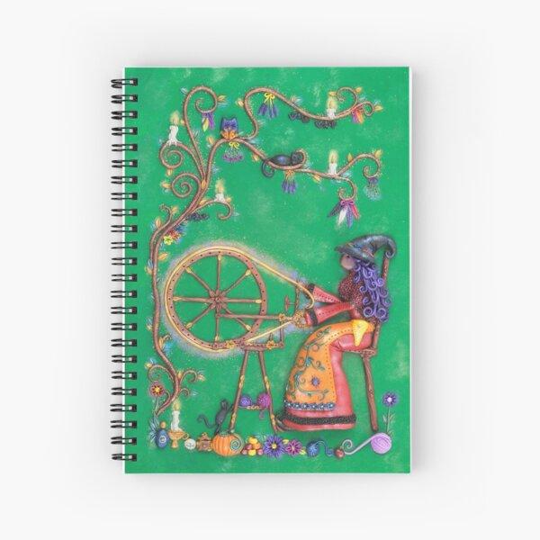 Spellbound - Witch at Spinning Wheel Artwork Spiral Notebook
