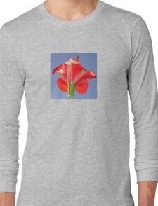 Side View of Scarlet Red Hibiscus In Bright Light T-Shirt