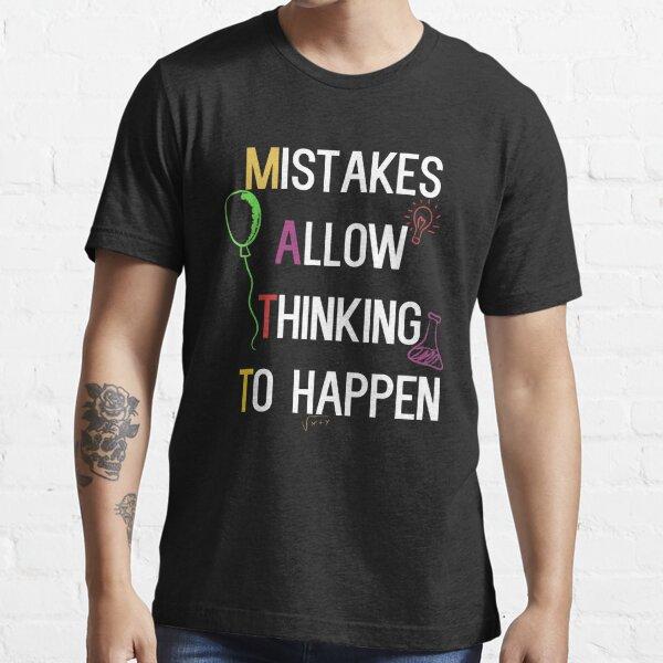 Los errores permiten pensar en suceder regalo Camiseta esencial