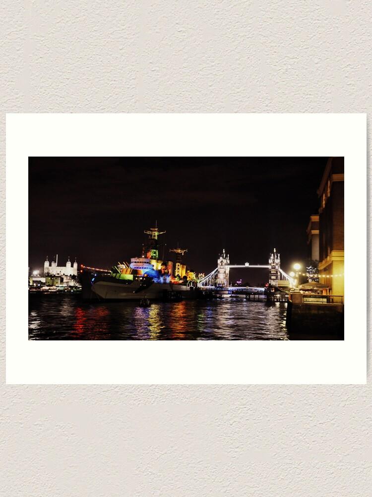 Alternate view of Presenting HMS Belfast Art Print