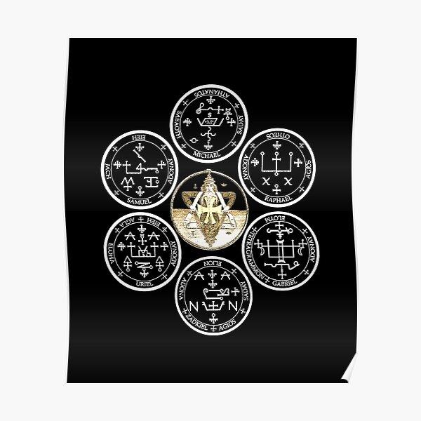 The Seven Archangel Sigils - Solomon's Seals Archangel Seals Sigils Poster