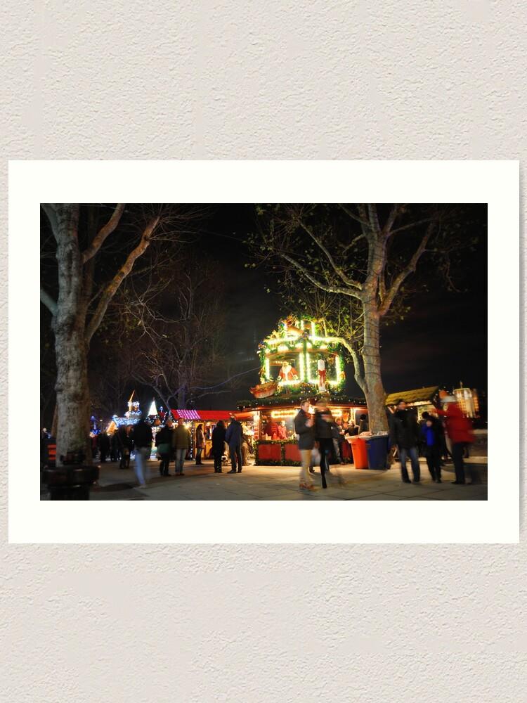 Alternate view of Christmas market Art Print