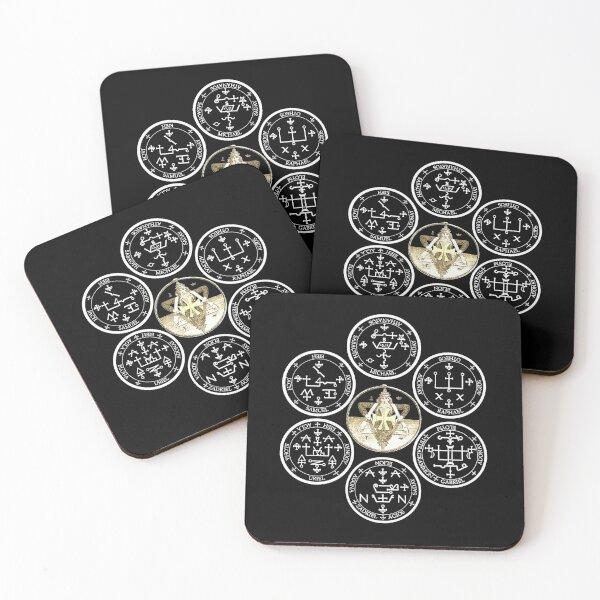 The Seven Archangel Sigils - Solomon's Seals Archangel Seals Sigils Coasters (Set of 4)