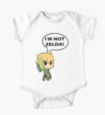 Ich bin nicht Zelda Kurzärmeliger Einteiler