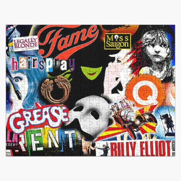 Broadway Musical Collage Jigsaw Puzzle