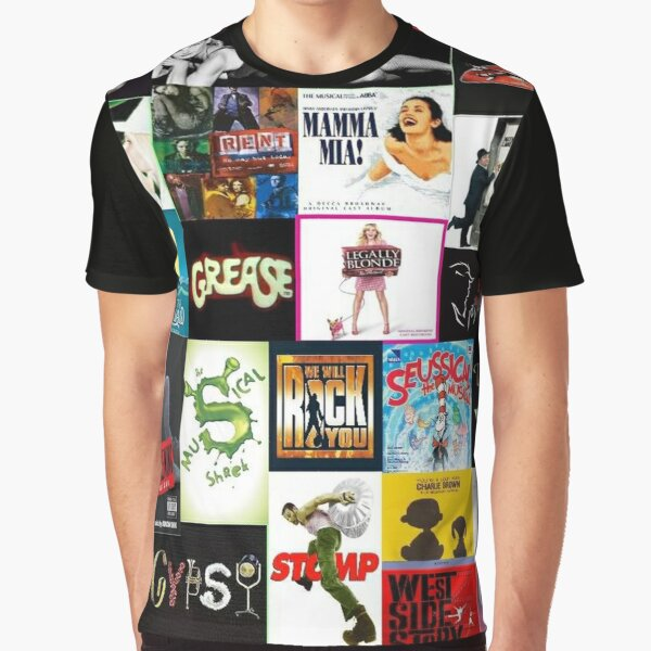 Broadway Musical Collage 2 Graphic T-Shirt