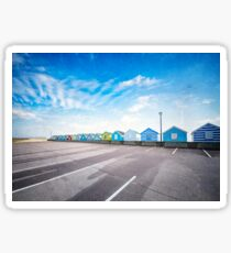 Beach Huts Sticker