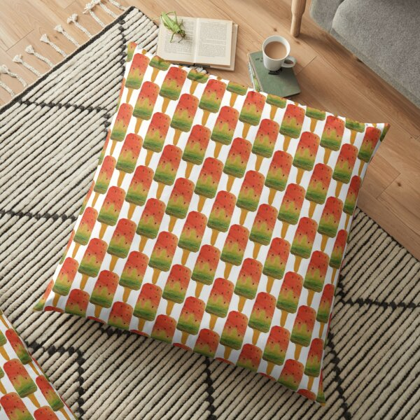 Watermelon Ice Lolly Doodle Floor Pillow