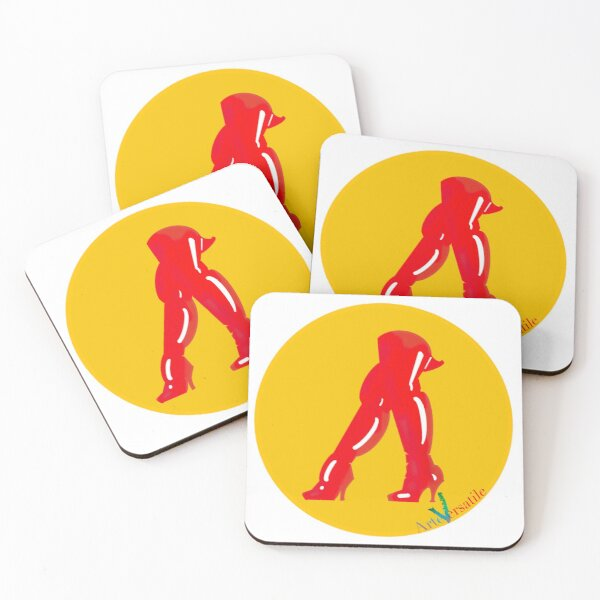 Red boots Coasters (Set of 4)