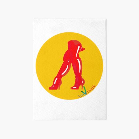 Red boots Art Board Print