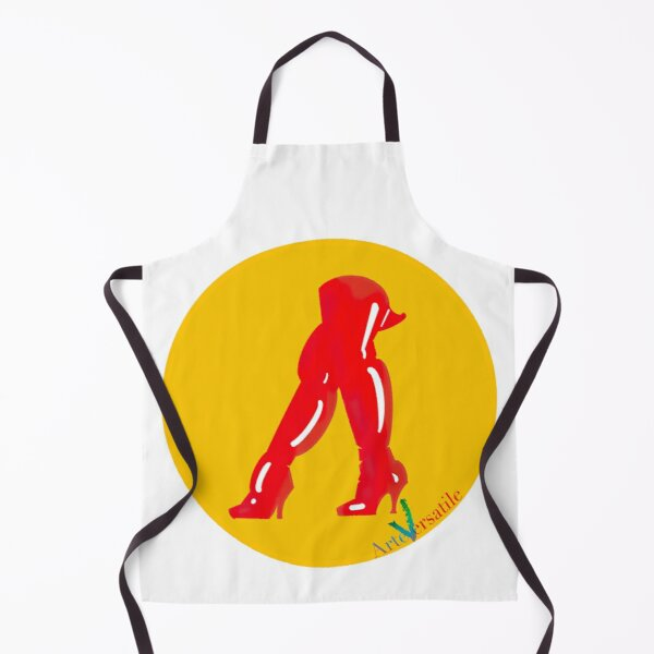 Red boots Apron