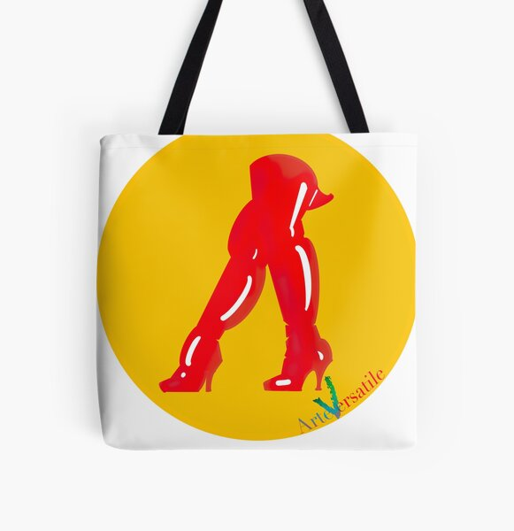 Red boots All Over Print Tote Bag