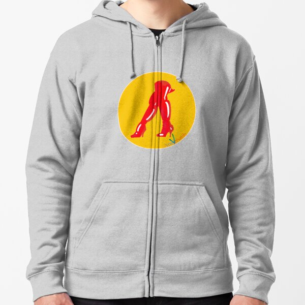 Red boots Zipped Hoodie