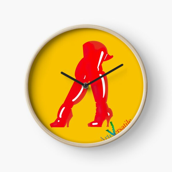 Red boots Clock