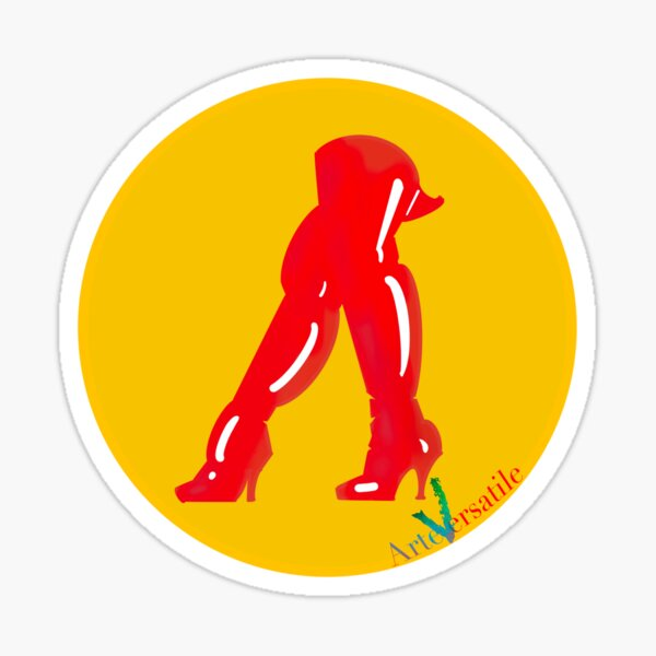 Red boots Sticker