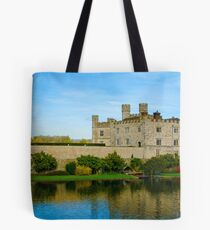 Leeds Castle with moat Tote Bag